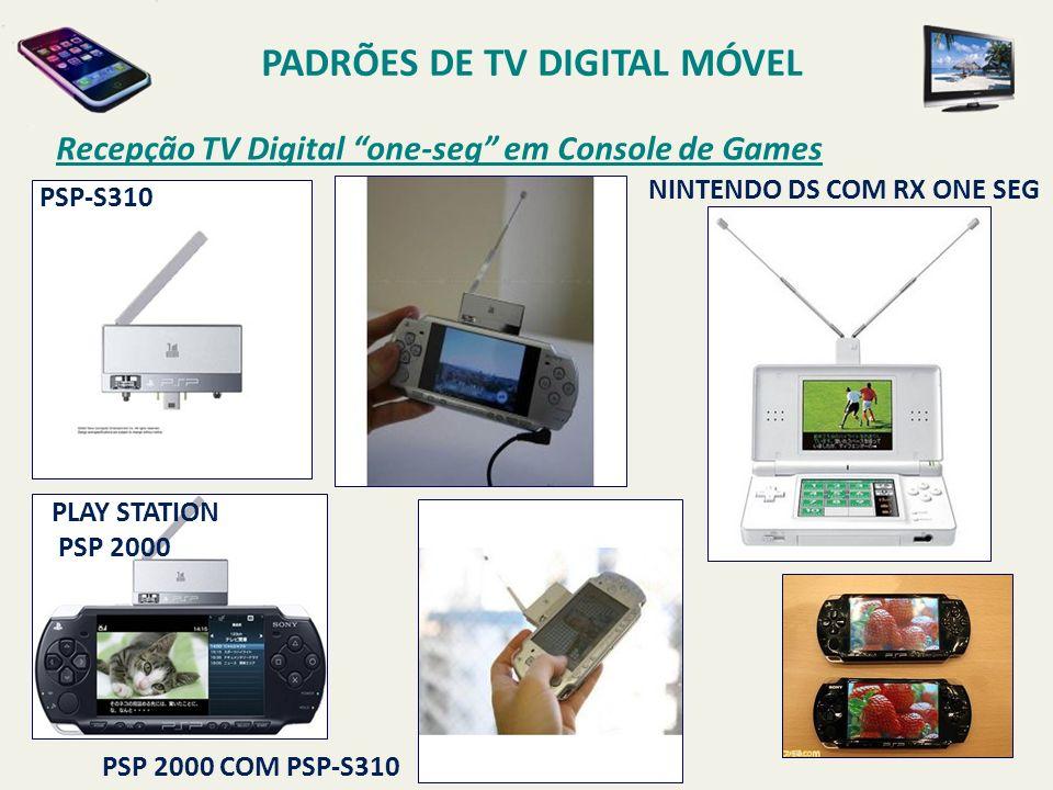 PSP 2000 COM PSP-S310 NINTENDO DS COM RX ONE SEG PLAY STATION PSP 2000 PSP-S310 PADRÕES DE TV DIGITAL MÓVEL Recepção TV Digital one-seg em Console de Games