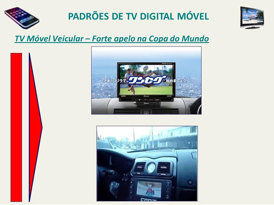 TV Móvel Veicular – Forte apelo na Copa do Mundo PADRÕES DE TV DIGITAL MÓVEL