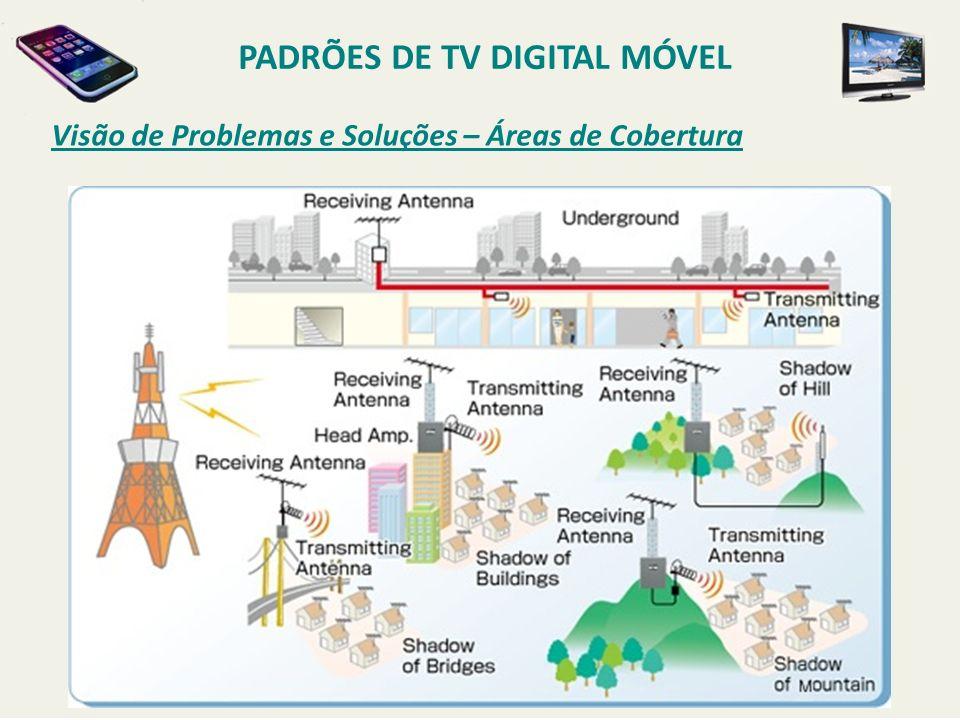 Visão de Problemas e Soluções – Áreas de Cobertura PADRÕES DE TV DIGITAL MÓVEL