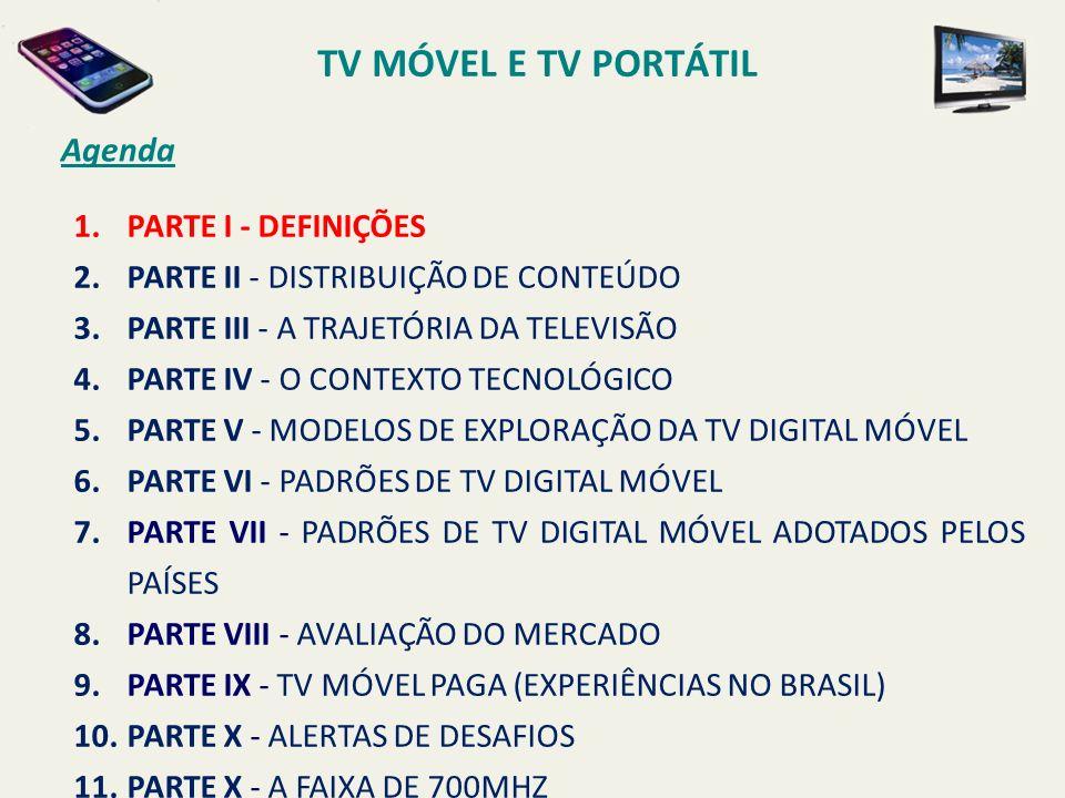 PADRÕES DE TV DIGITAL MÓVEL NOC FATURAMENTO.DISTRIBUIÇÃO.
