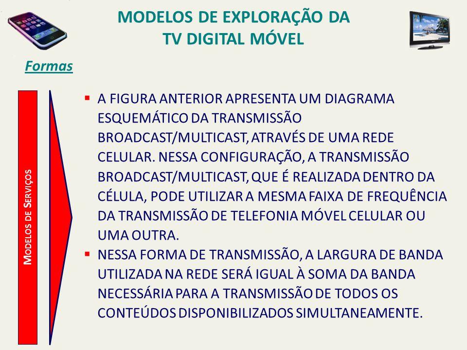 M ODELOS DE S ERVIÇOS A FIGURA ANTERIOR APRESENTA UM DIAGRAMA ESQUEMÁTICO DA TRANSMISSÃO BROADCAST/MULTICAST, ATRAVÉS DE UMA REDE CELULAR.