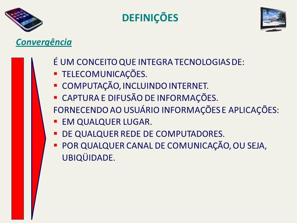É UM CONCEITO QUE INTEGRA TECNOLOGIAS DE: TELECOMUNICAÇÕES.