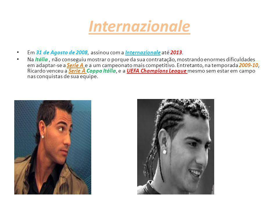 Internazionale Em 31 de Agosto de 2008, assinou com a Internazionale até 2013. Na Itália, não conseguiu mostrar o porque da sua contratação, mostrando