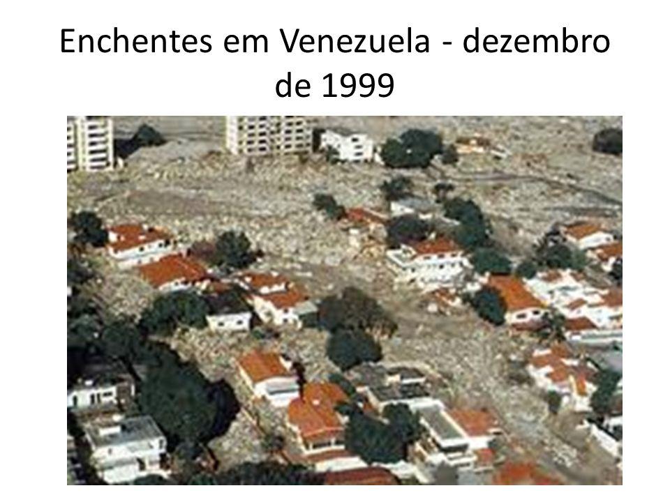 Enchentes em Venezuela - dezembro de 1999