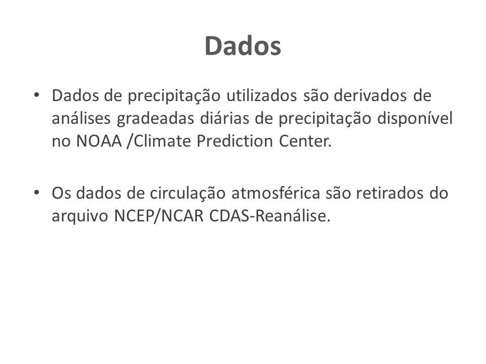 Resultados Todos os eventos mostram valores elevados de PW e um cavado de PNM na vizinhança do Sudeste Brasil.