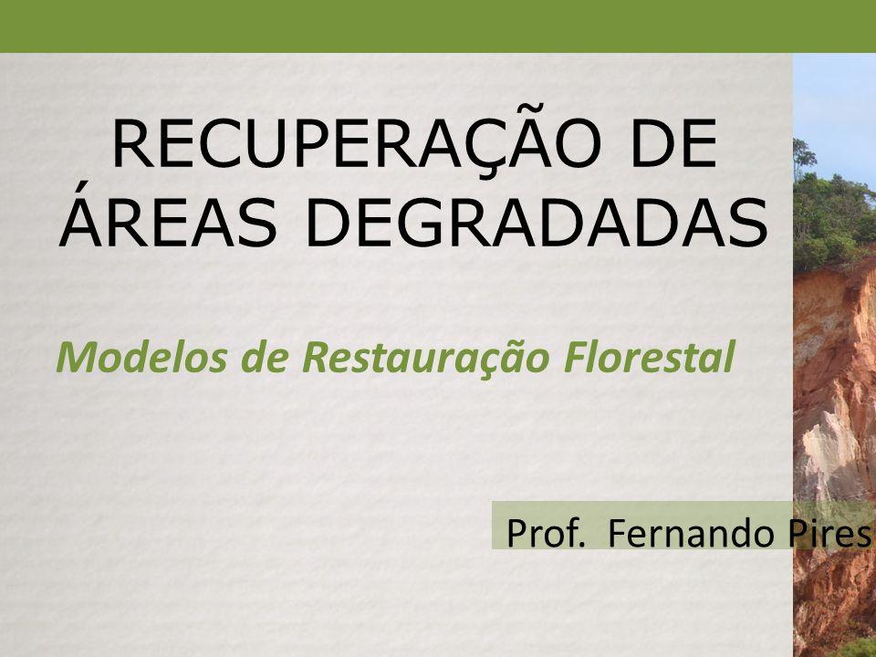 RECUPERAÇÃO DE ÁREAS DEGRADADAS Modelos de Restauração Florestal Prof. Fernando Pires