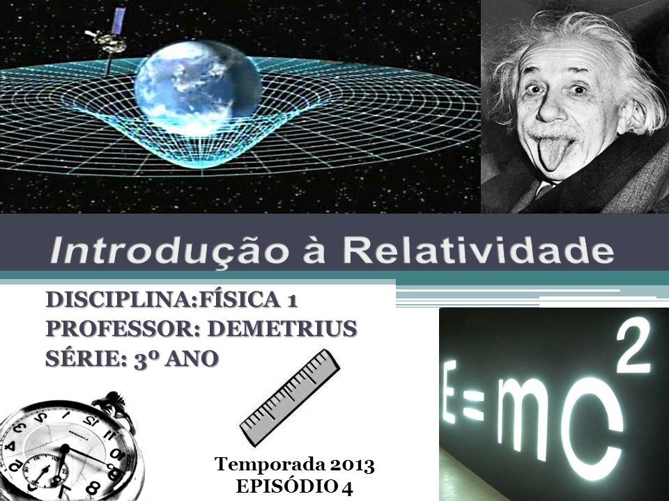 DISCIPLINA:FÍSICA 1 PROFESSOR: DEMETRIUS SÉRIE: 3º ANO Temporada 2013 EPISÓDIO 4