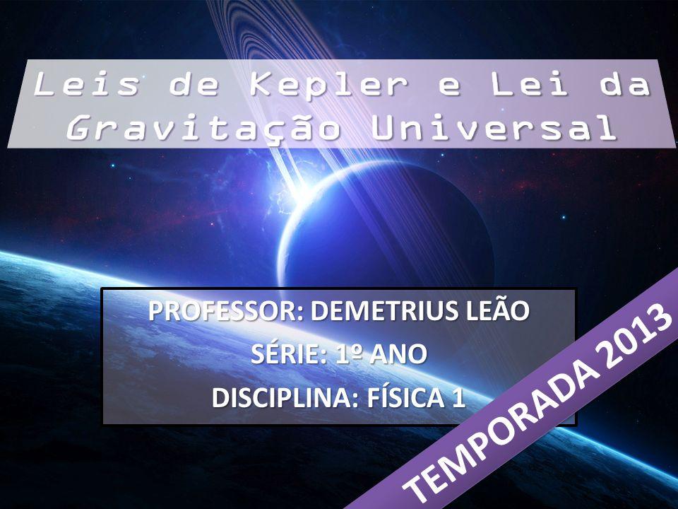 PROFESSOR: DEMETRIUS LEÃO SÉRIE: 1º ANO DISCIPLINA: FÍSICA 1 TEMPORADA 2013