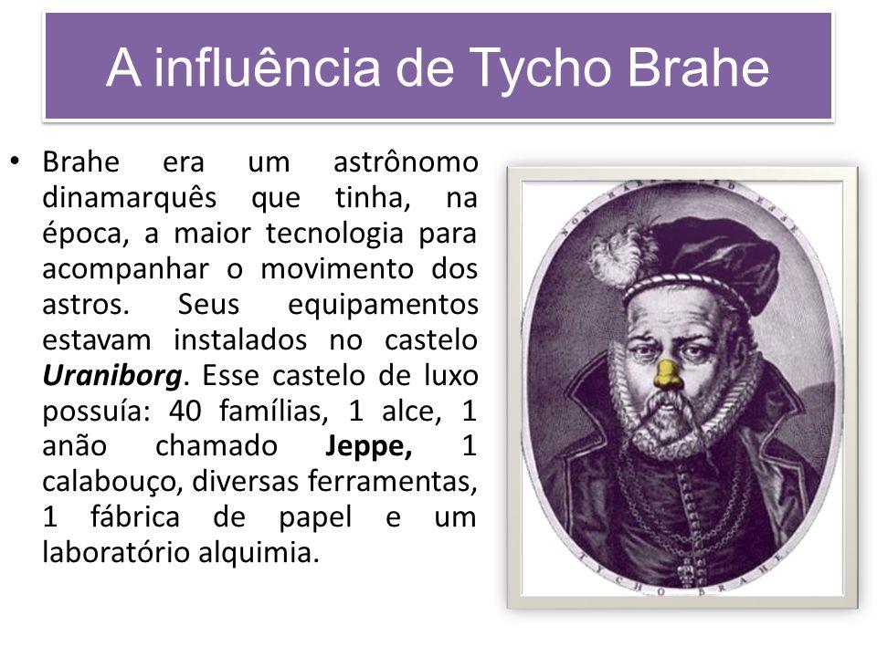 A influência de Tycho Brahe Brahe era um astrônomo dinamarquês que tinha, na época, a maior tecnologia para acompanhar o movimento dos astros.