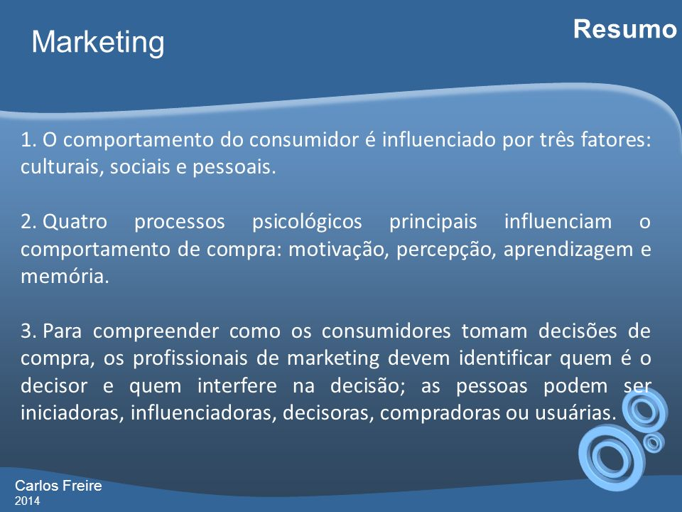 Carlos Freire 2014 Marketing Resumo 1.