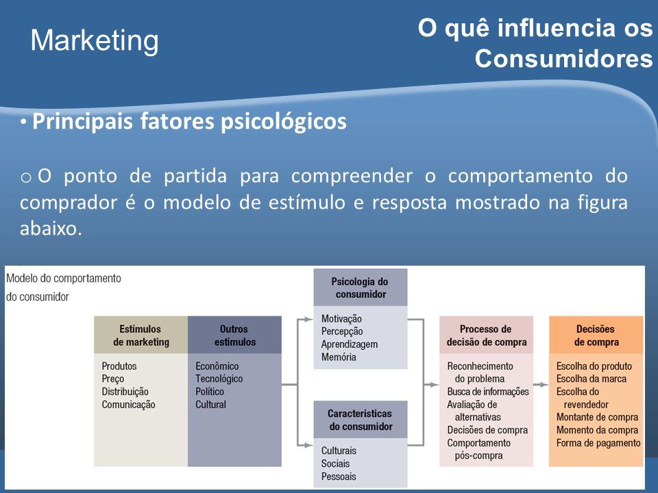 Carlos Freire 2014 Marketing O quê influencia os Consumidores Principais fatores psicológicos o O ponto de partida para compreender o comportamento do