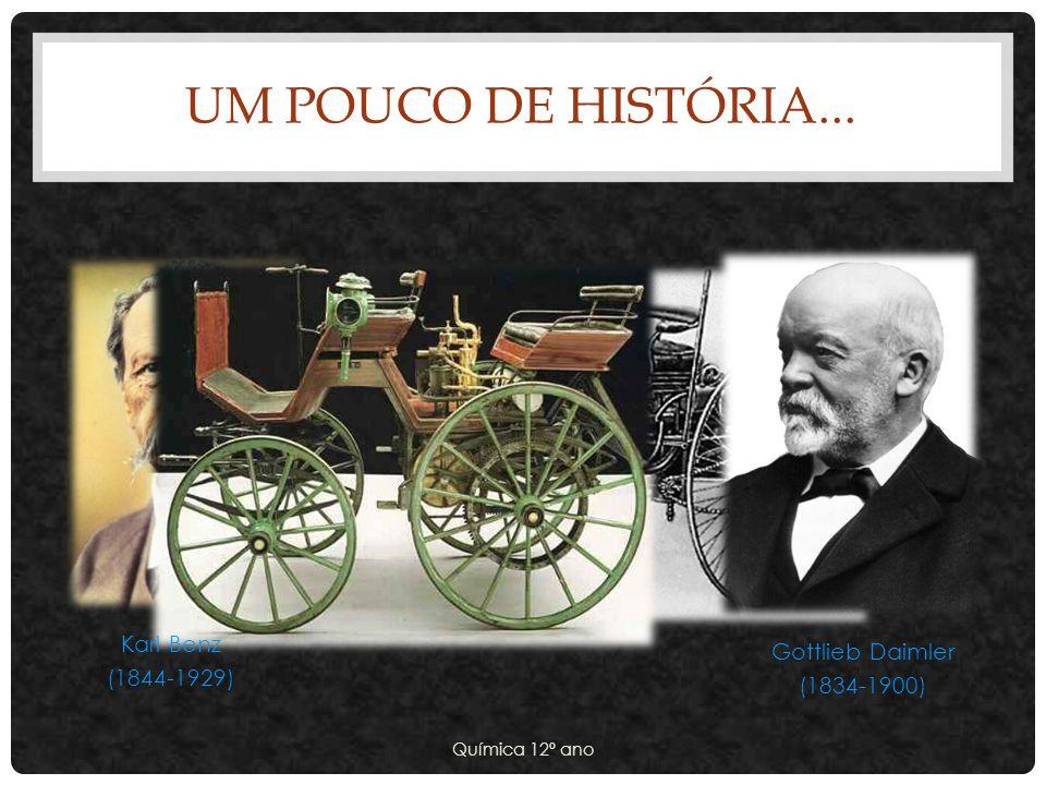 UM POUCO DE HISTÓRIA... Química 12º ano Karl Benz (1844-1929) Gottlieb Daimler (1834-1900)