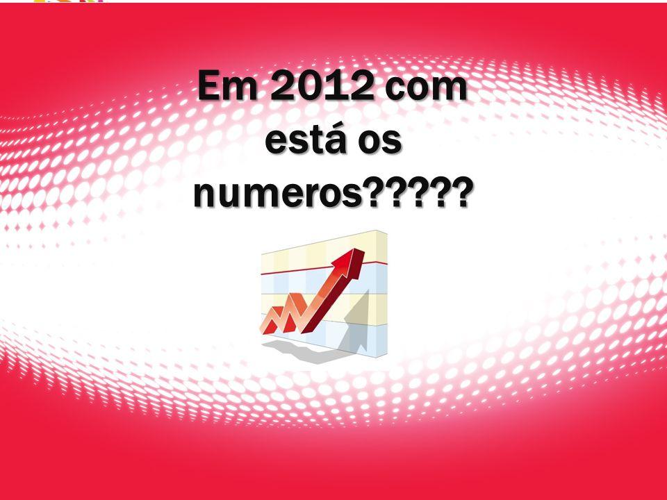 Em 2012 com está os numeros?????