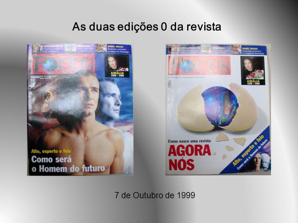 Nº102 30 de Setembro de 2001 Nesta edição verifica-se o uso das reticências em ambos os títulos da capa.
