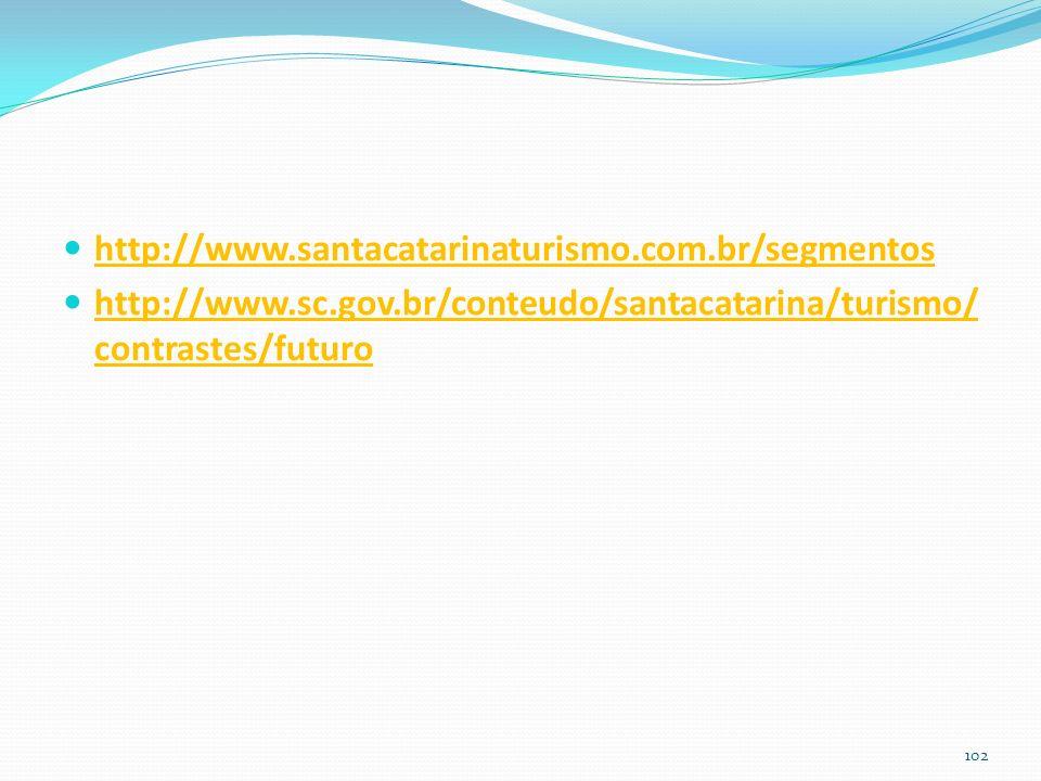 http://www.santacatarinaturismo.com.br/segmentos http://www.sc.gov.br/conteudo/santacatarina/turismo/ contrastes/futuro 102