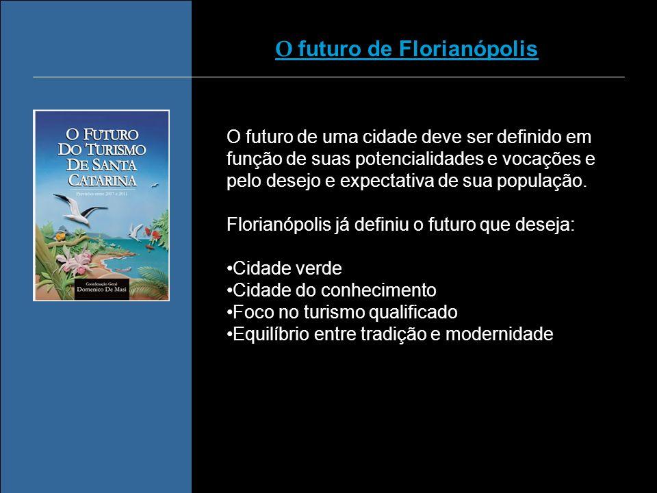 O futuro de uma cidade deve ser definido em função de suas potencialidades e vocações e pelo desejo e expectativa de sua população. Florianópolis já d