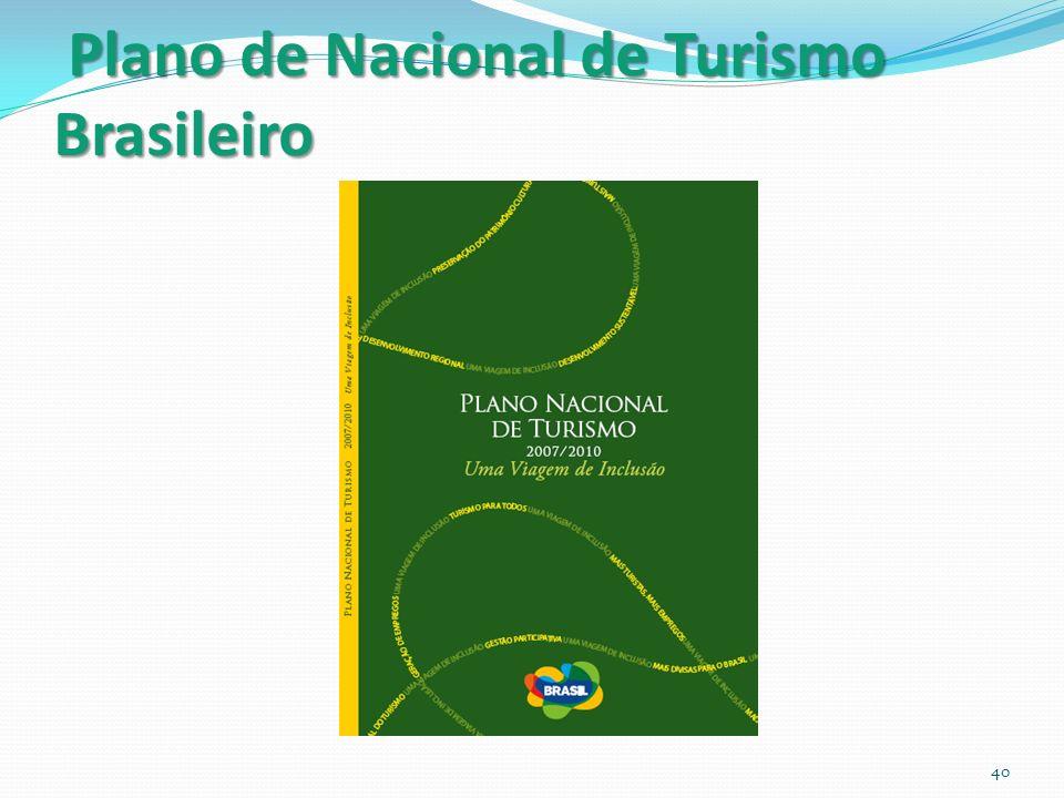 Plano de Nacional de Turismo Brasileiro 40