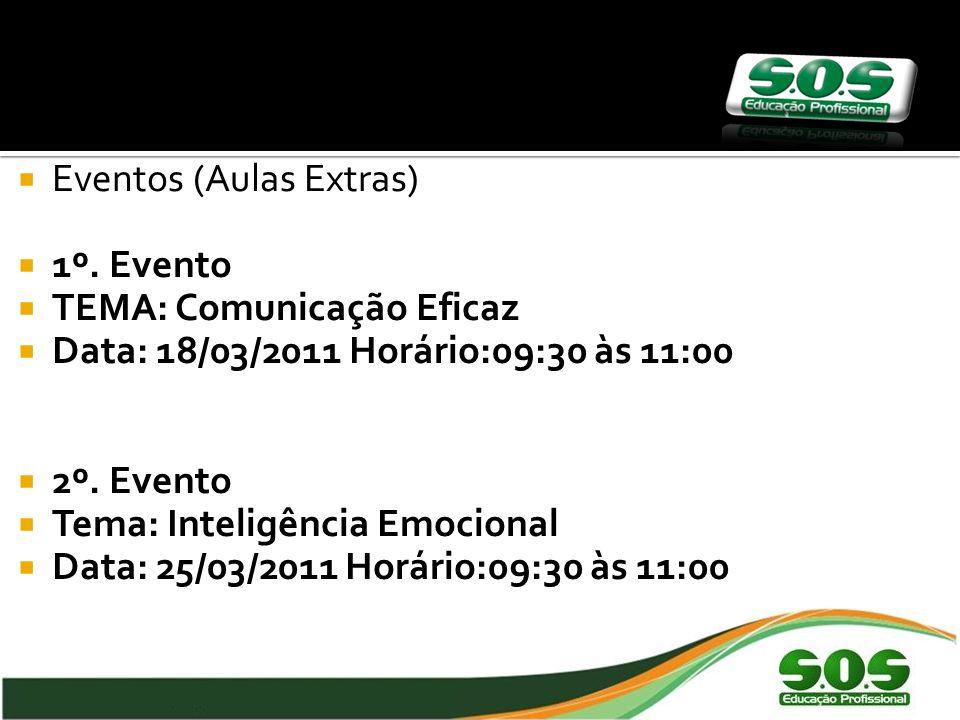 Eventos (Aulas Extras) 1º.