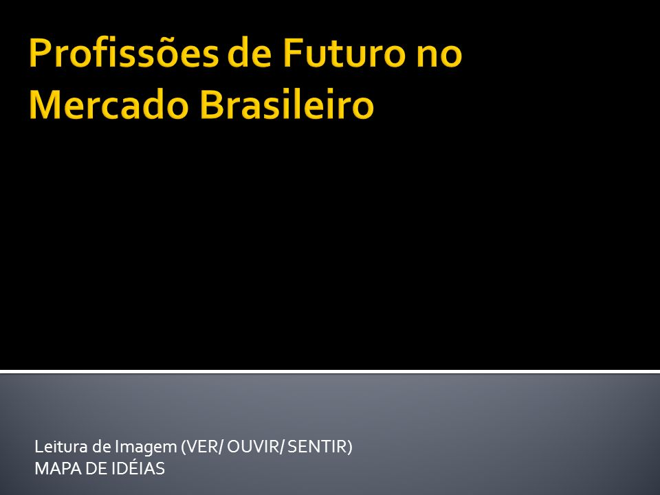 Leitura de Imagem (VER/ OUVIR/ SENTIR) MAPA DE IDÉIAS