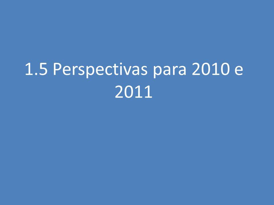 1.5 Perspectivas para 2010 e 2011