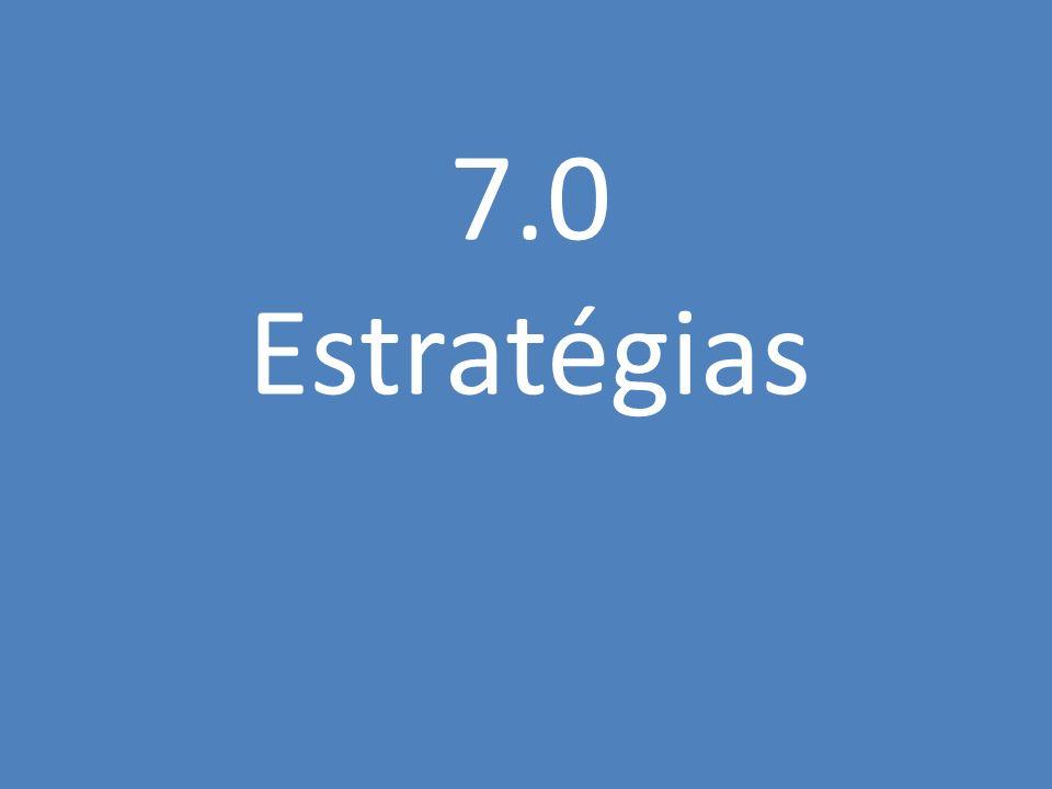 7.0 Estratégias