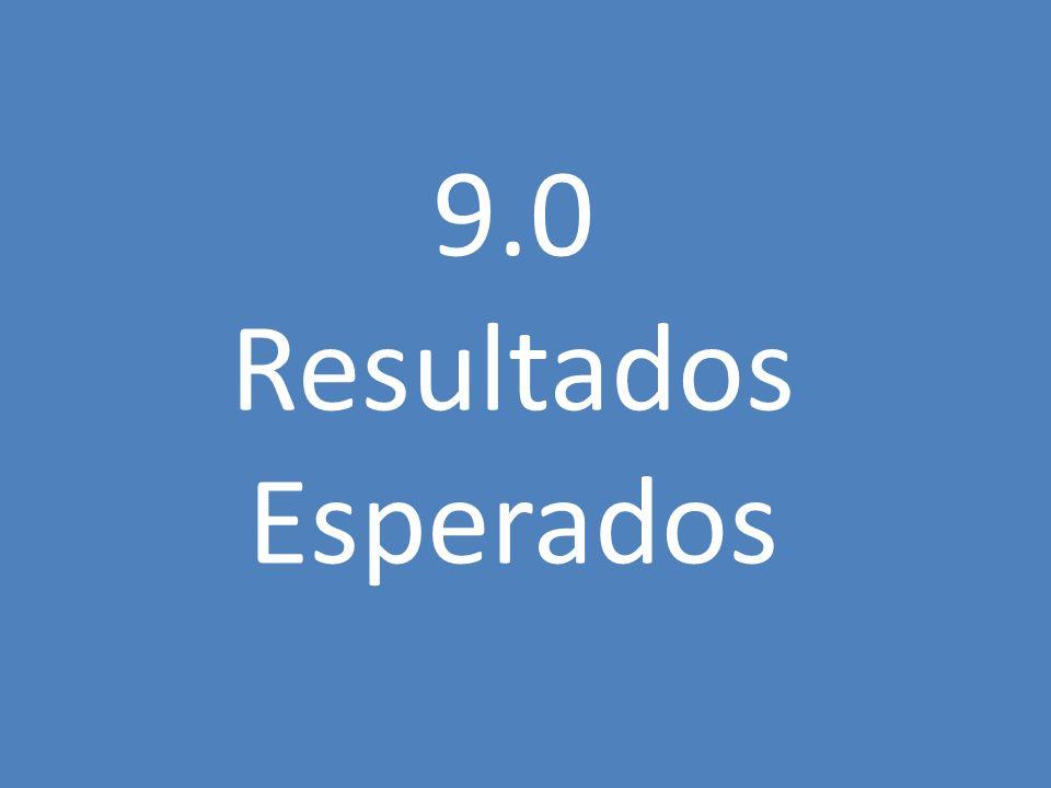 9.0 Resultados Esperados