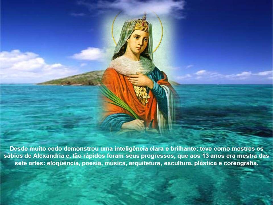 Santa Catarina nasceu em Alexandria, principal cidade do Egito antigo.