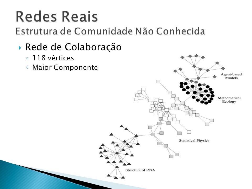 Rede de Colaboração 118 vértices Maior Componente