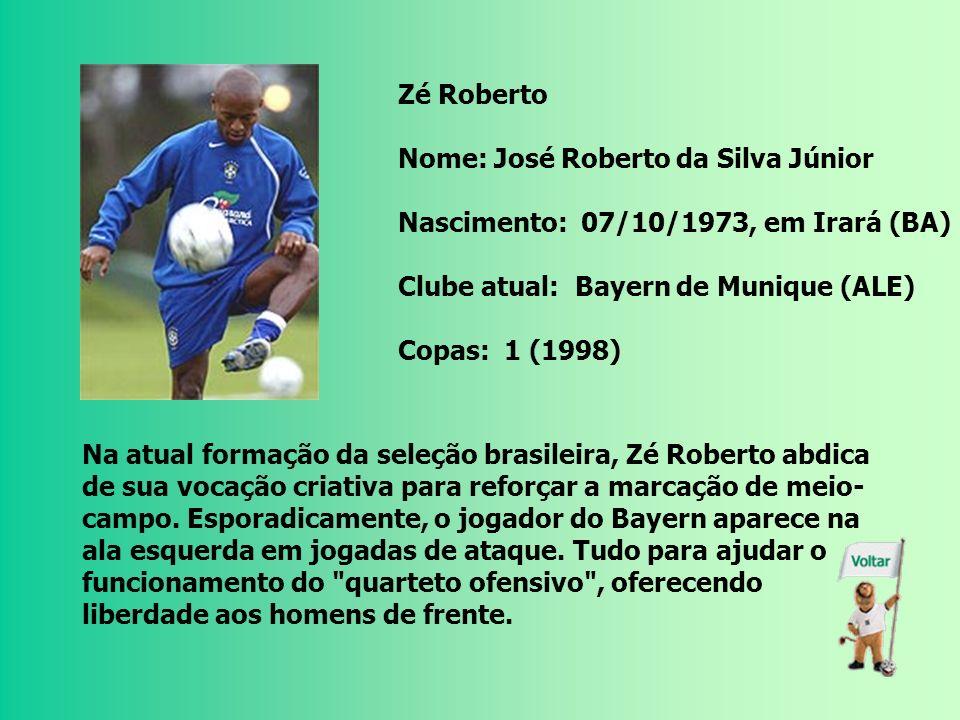 Ronaldinho Gaúcho Nome: Ronaldo de Assis Moreira Nascimento: 21/03/1980, em Porto Alegre (RS) Clube atual: Barcelona (ESP) Copas: 1 (2002) Eleito o me