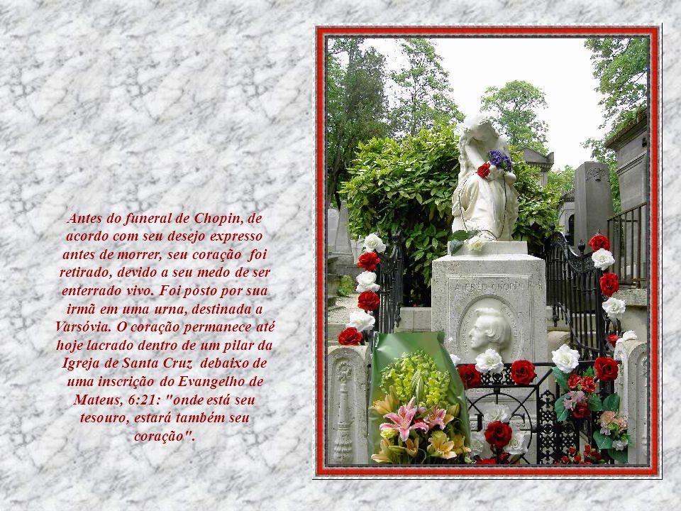 Em 1848, Chopin deu seu último concerto em Paris, e, embora tenha conseguido dar algumas apresentações de salão, estava muito doente, com tuberculose.