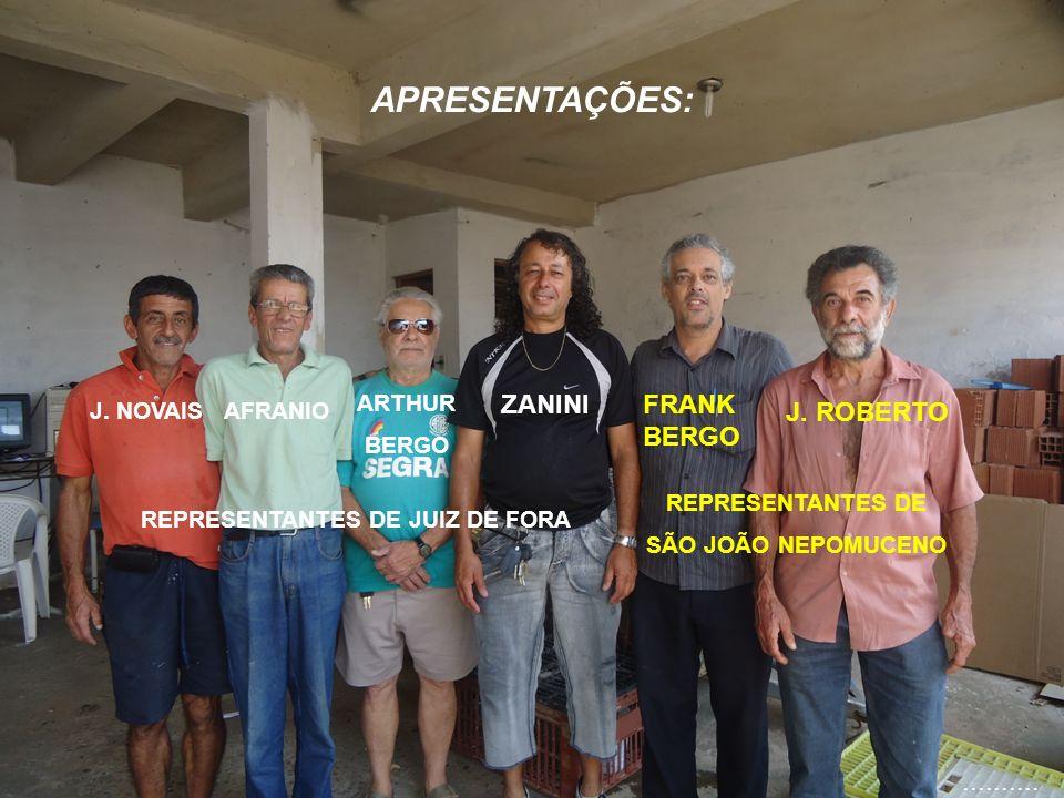 J.NOVAISAFRANIO ARTHUR BERGO ZANINI REPRESENTANTES DE JUIZ DE FORA FRANK BERGO J.