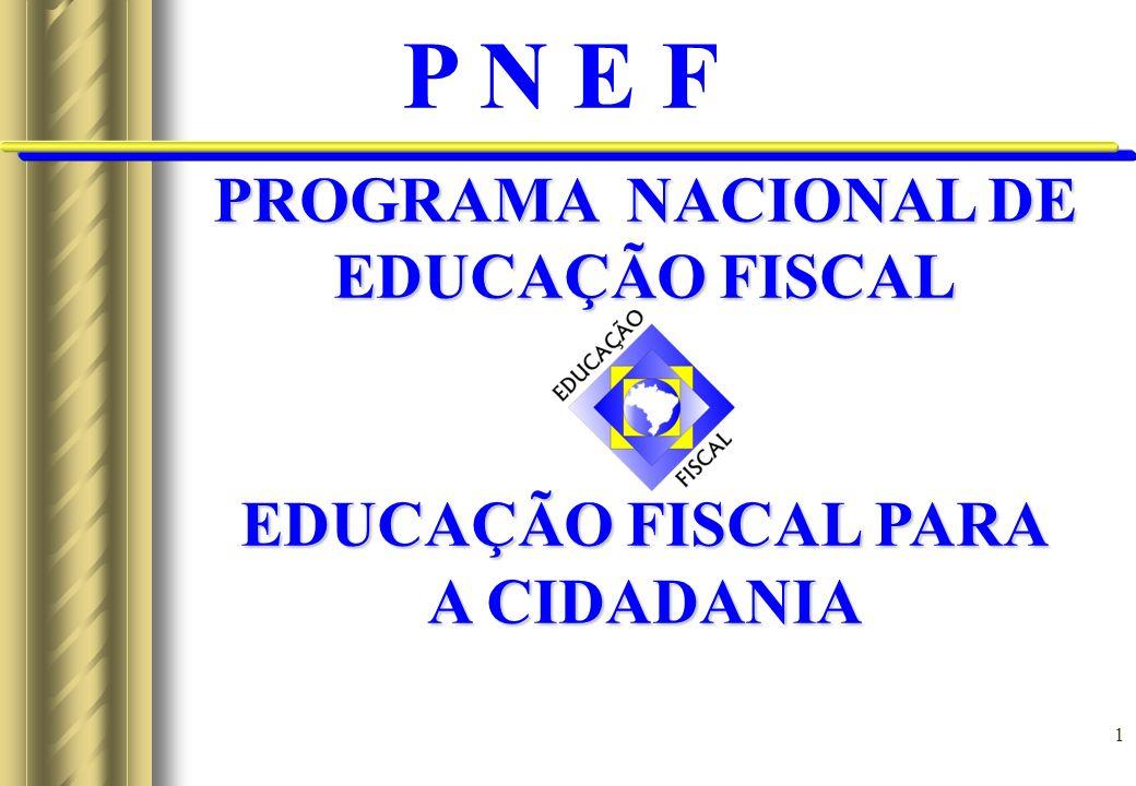 2 O PNEF tem os seguintes objetivos:GERAL: Promover e institucionalizar a educação fiscal para o pleno exercício da cidadania.ESPECÍFICOS: - Criar condições para uma relação harmoniosa entre o Estado e o cidadão.