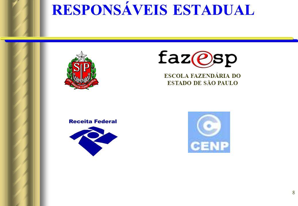 8 RESPONSÁVEIS ESTADUAL ESCOLA FAZENDÁRIA DO ESTADO DE SÃO PAULO