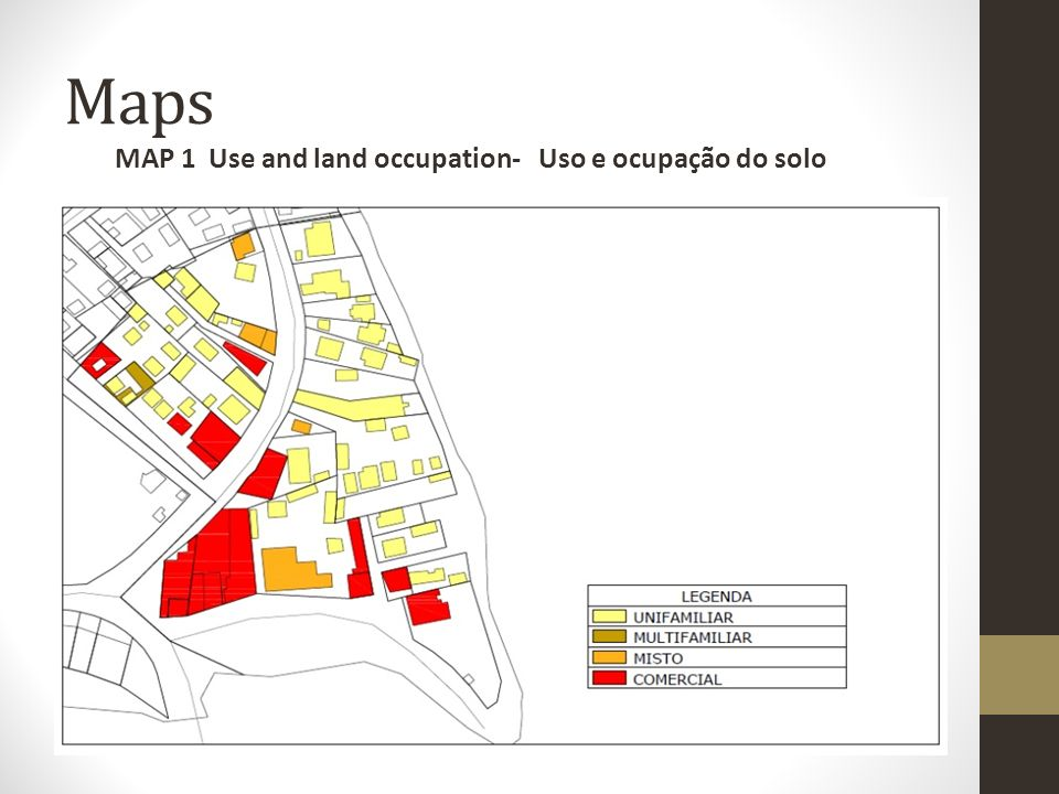 Maps MAP 1 Use and land occupation- Uso e ocupação do solo