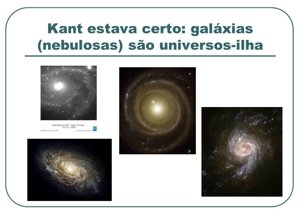 Kant estava certo: galáxias (nebulosas) são universos-ilha
