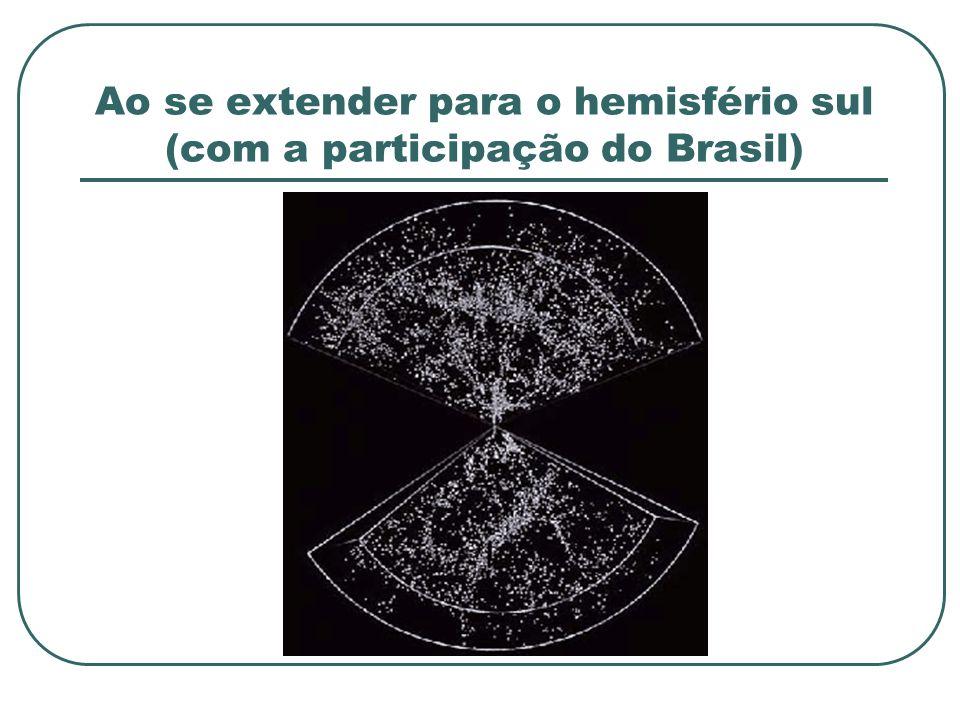 Ao se extender para o hemisfério sul (com a participação do Brasil)