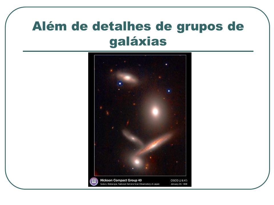 Além de detalhes de grupos de galáxias