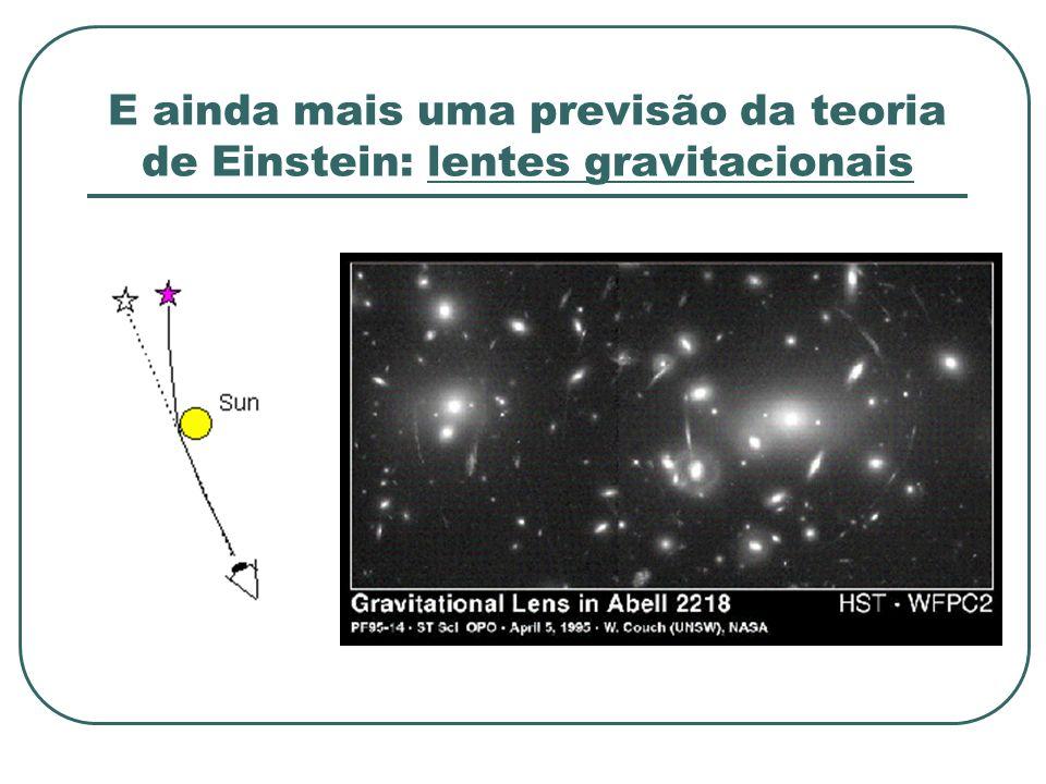 E ainda mais uma previsão da teoria de Einstein: lentes gravitacionais