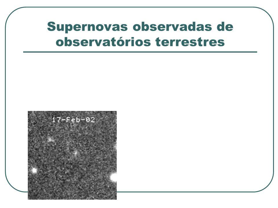 Supernovas observadas de observatórios terrestres
