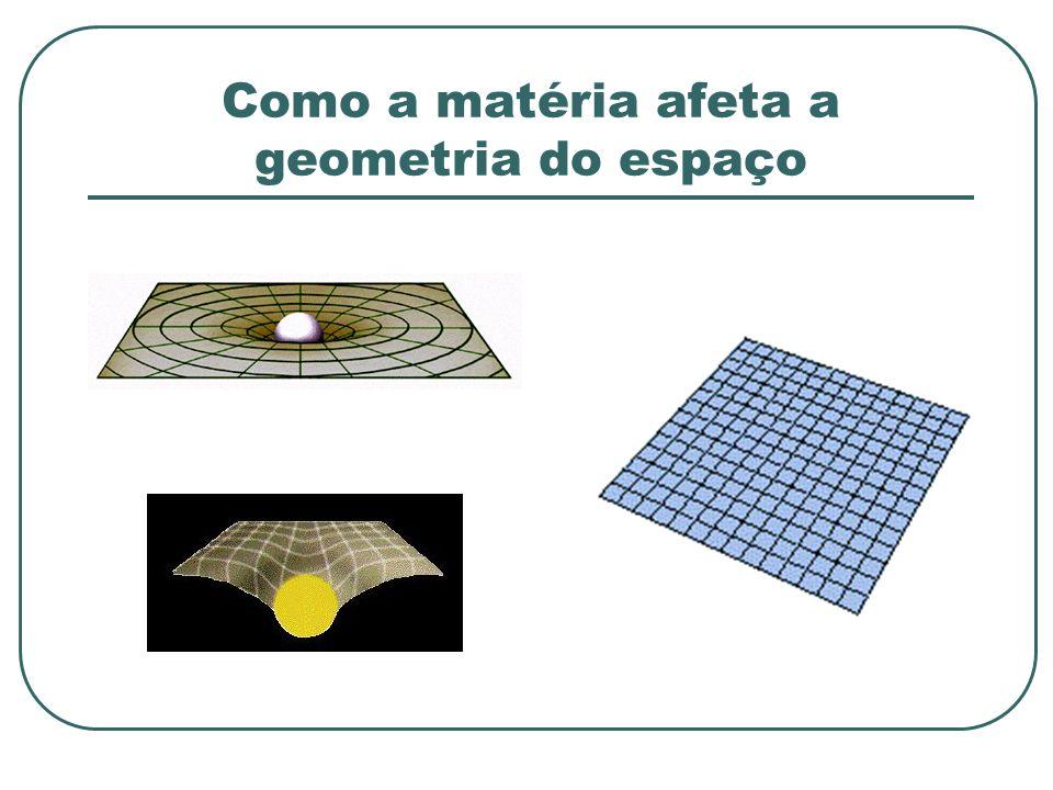 Como a matéria afeta a geometria do espaço