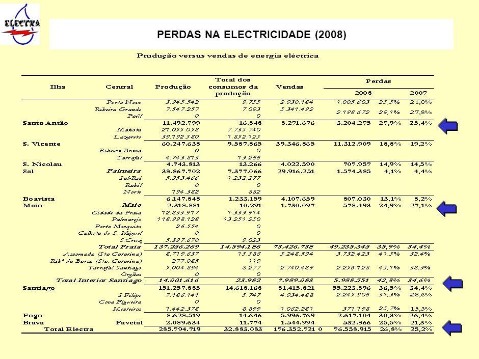 14 PERDAS NA ELECTRICIDADE (2008)
