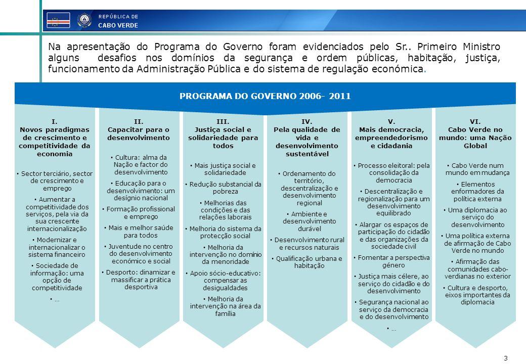 3 I. Novos paradigmas de crescimento e competitividade da economia Sector terciário, sector de crescimento e emprego Aumentar a competitividade dos se