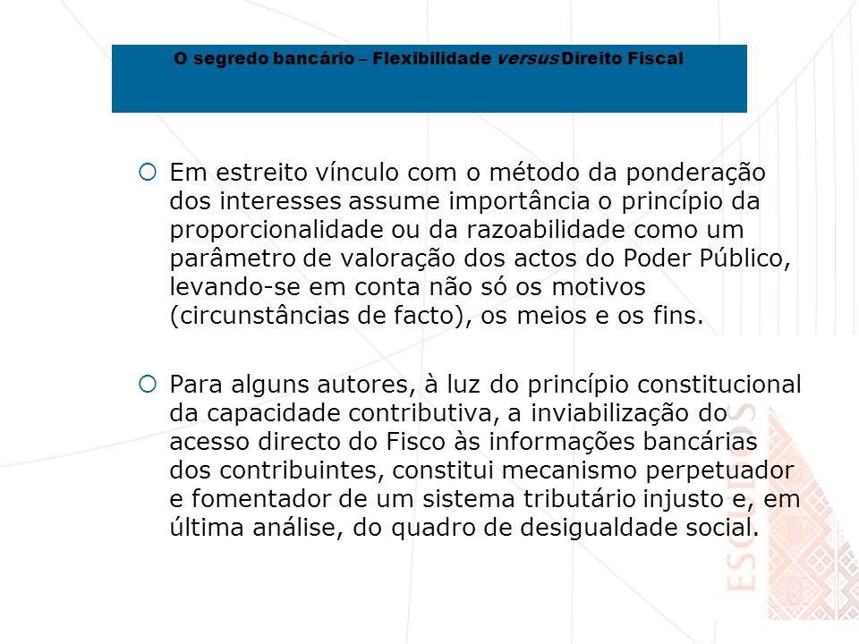 Em estreito vínculo com o método da ponderação dos interesses assume importância o princípio da proporcionalidade ou da razoabilidade como um parâmetro de valoração dos actos do Poder Público, levando-se em conta não só os motivos (circunstâncias de facto), os meios e os fins.