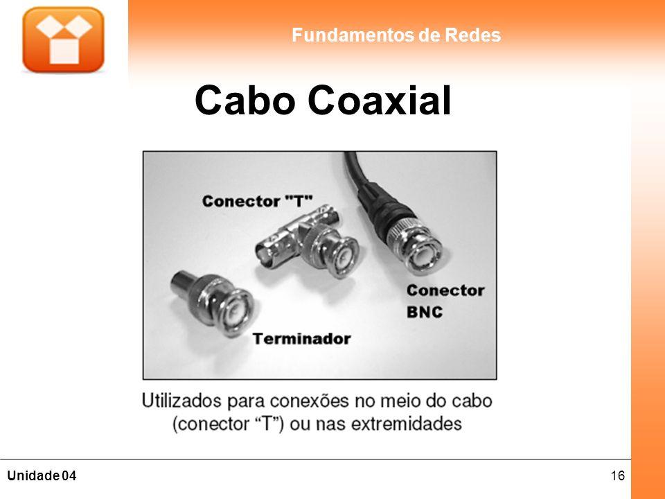 16Unidade 04 Fundamentos de Redes Cabo Coaxial