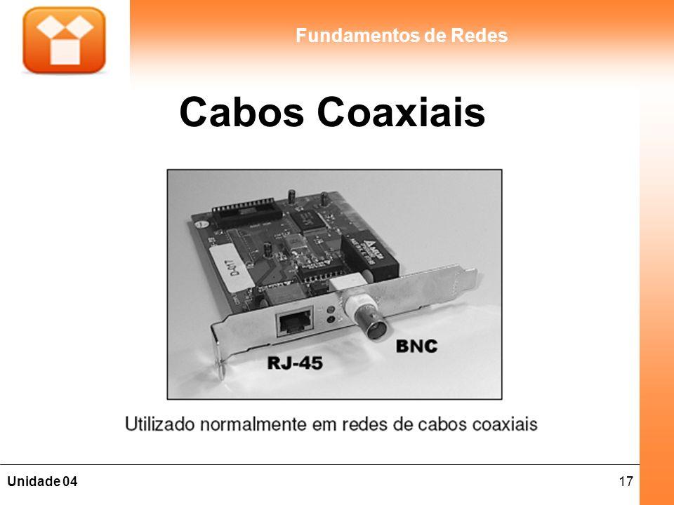 17Unidade 04 Fundamentos de Redes Cabos Coaxiais