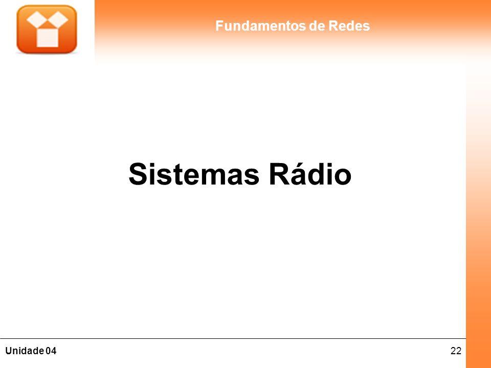 22Unidade 04 Fundamentos de Redes Sistemas Rádio