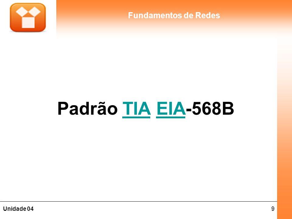 9Unidade 04 Fundamentos de Redes Padrão TIA EIA-568BTIAEIA