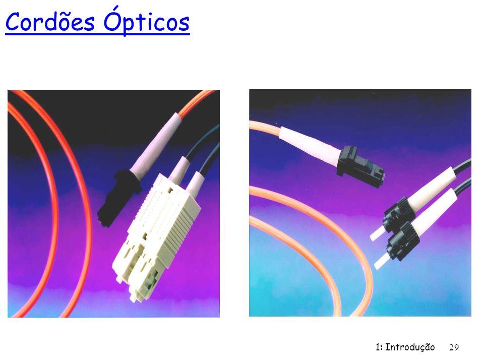 1: Introdução 29 Cordões Ópticos