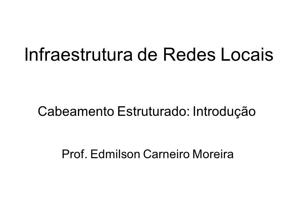 Infraestrutura de Redes Locais Prof. Edmilson Carneiro Moreira Cabeamento Estruturado: Introdução