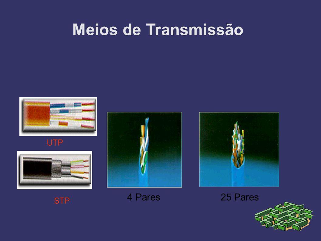 UTP STP 4 Pares25 Pares Meios de Transmissão